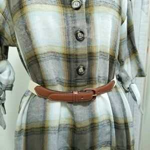 American Apparel Canvas & Cognac Leather Belt XS